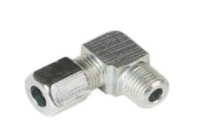 Mato SS81-5324 Type LL Compression Elbow Pipe Connector Stainless Steel - Lubricants SW