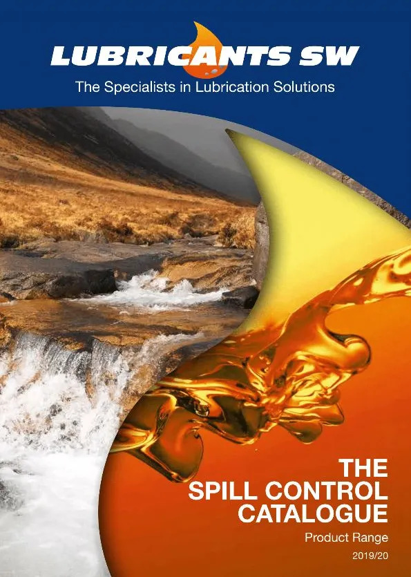 Spill Control - lubricants catalogue thumb - lubricants south west